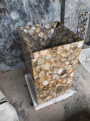 Golden Agate Pedestal Wash Basin