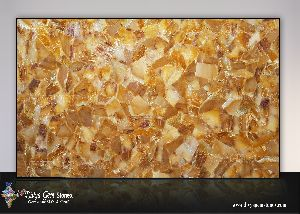Golden Quartz Slab