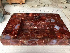 Red Carnelian Counter Wash Basin