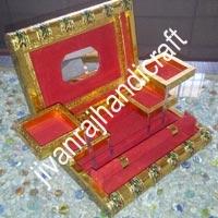 Golden Meenakari Jewellery Box (11x8)