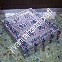 Silver Meenakari Jewellery Box (12x10)