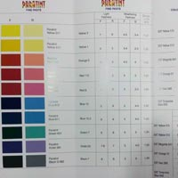 Pigment Paste Shade Card 01