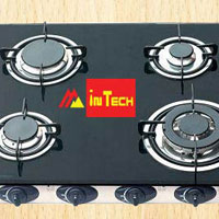 4 Burner Glass Stove