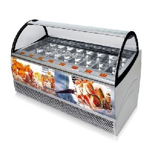 Gelato Display Commercial Refrigerator