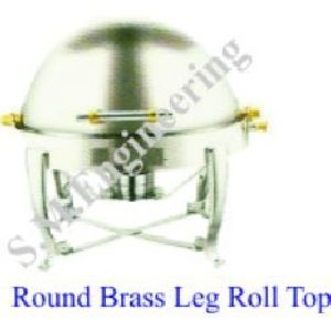 Round Brass Leg Roll Top