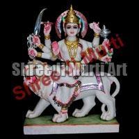 Marble Durga Statue 01