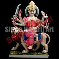 Marble Durga Statue 02