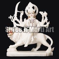 Marble Durga Statue 03