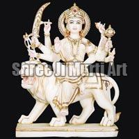 Marble Durga Statue 04