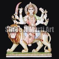 Marble Durga Statue 05