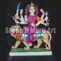 Marble Durga Statue 06