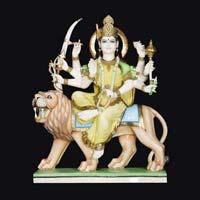 Marble Durga Statue 08