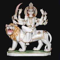 Marble Durga Statue 09