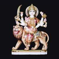 Marble Durga Statue 10