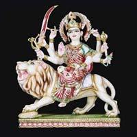 Marble Durga Statue 12