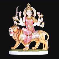 Marble Durga Statue 13