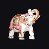 Marble Elephant Statue 03