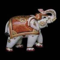 Marble Elephant Statue 04