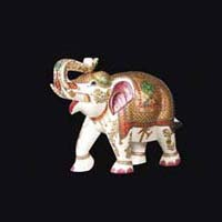 Marble Elephant Statue 05