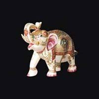 Marble Elephant Statue 07