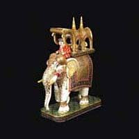 Marble Elephant Statue 02