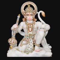 Marble Hanuman Statue 06