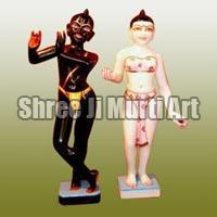 Marble Iskcon Radha Krishna Statue 03