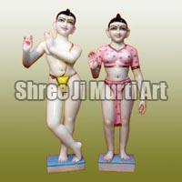Marble Iskcon Radha Krishna Statue 04