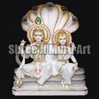 Marble Laxmi Narayan Statue 01