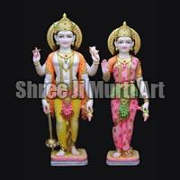 Marble Laxmi Narayan Statue 02
