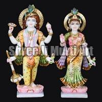 Marble Laxmi Narayan Statue 03