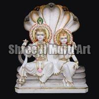 Marble Laxmi Narayan Statue 05