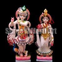 Marble Radha Krishna Statue 03