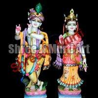 Marble Radha Krishna Statue 04