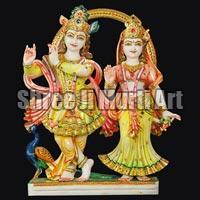Marble Radha Krishna Statue 05