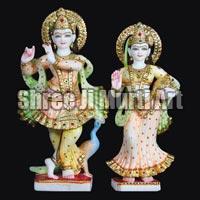 Marble Radha Krishna Statue 06