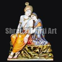 Marble Radha Krishna Statue 08