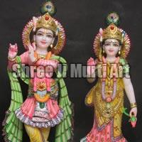 Marble Radha Krishna Statue 11