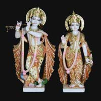 Marble Radha Krishna Statue 16