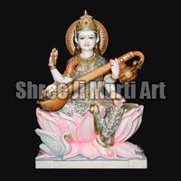Marble Saraswati Statue 01