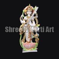Marble Saraswati Statue 02
