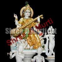 Marble Saraswati Statue 03