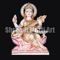 Marble Saraswati Statue 04
