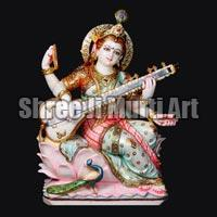 Marble Saraswati Statue 05