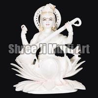 Marble Saraswati Statue 06