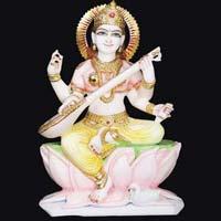 Marble Saraswati Statue 07