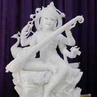 Marble Saraswati Statue 09