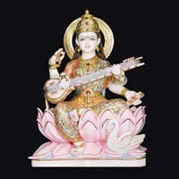 Marble Saraswati Statue 12