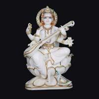 Marble Saraswati Statue 11