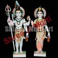 Marble Shiva Parvati Statue 01